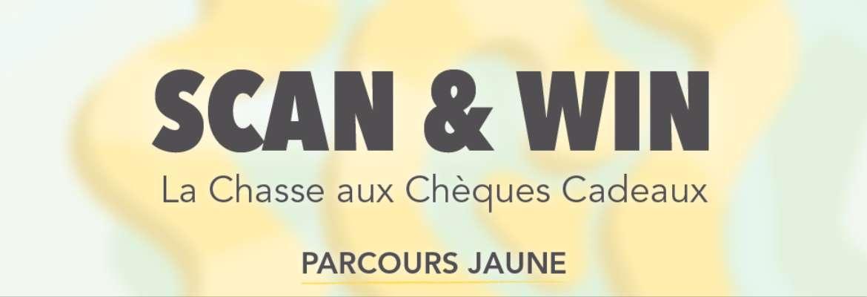 Scan & Win : La Chasse aux Chèques Cadeaux - PARCOURS JAUNE