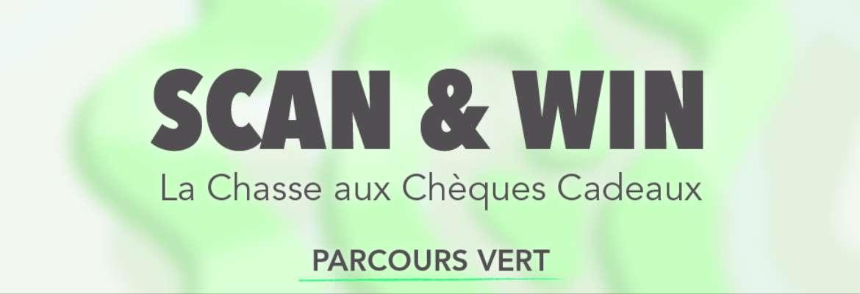 Scan & Win : La Chasse aux Chèques Cadeaux - PARCOURS VERT