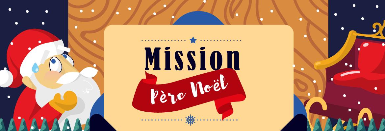 Mission Père Noël au centre ville des Mureaux