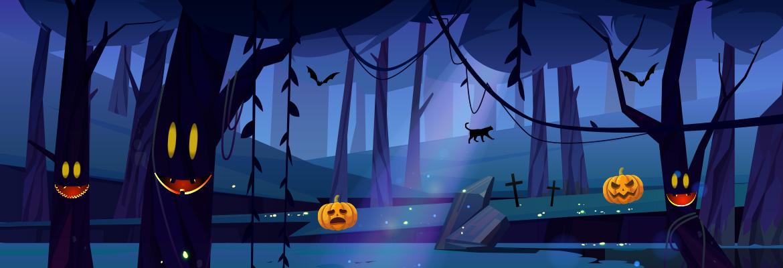Les arbres magiques d'Halloween