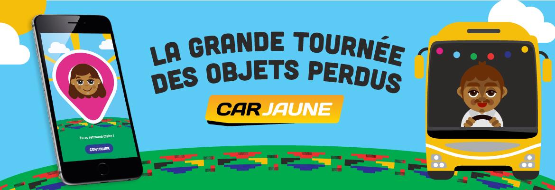 Car Jaune et la grande tournée des objets perdus - Saint Denis