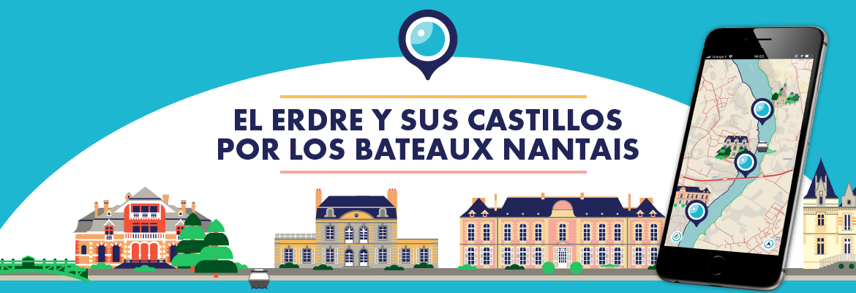 El Erdre y sus castillos por los Bateaux Nantais
