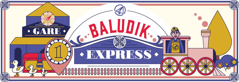 En route à bord du Baludik-Express !